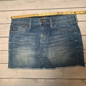 Lucky Brand Size 6 mini Jean skirt